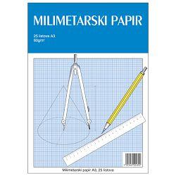 Teka-milimetarski blok A3 25 listova za tehničko crtanje Educa