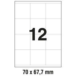 Etikete ILK  70x67,7mm pk100L Zweckform 3661