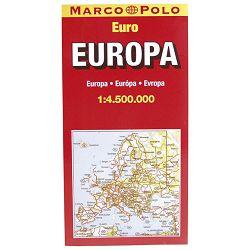 Auto karta Europe složiva Trsat