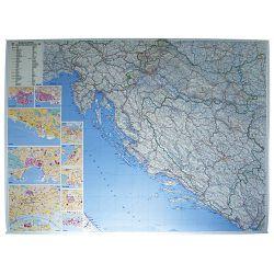 Karta zidna Hrvatske-cestovna Trsat