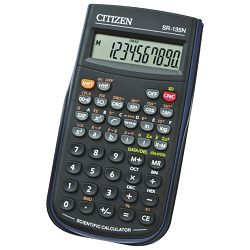Kalkulator tehnički  8+2mjesta 128 funkcija Citizen SR-135N crni blister