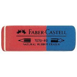 Gumica kaučuk tinta/grafit 7070-40 Faber Castell 187040 crvena-plava-KOMAD