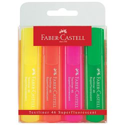 Signir 1-5mm superfluorescentan Faber Castell 2546/4boje blister