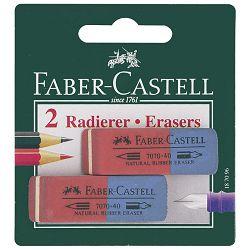 Gumica kaučuk tinta/grafitna 7070-40 pk2 Faber Castell 187096 blister