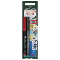 Marker permanentni 0,4mm Multimark Faber Castell 1523/2 crni i plavi blister!!
