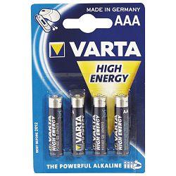 Baterija alkalna 1,5V AAA High Energy pk4 Varta LR03 blister