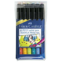 Flomaster Pitt  6boja Manga Shojo Faber Castell 167130 blister