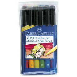 Flomaster Pitt  6boja Manga Colorset Faber Castell 167131 blister