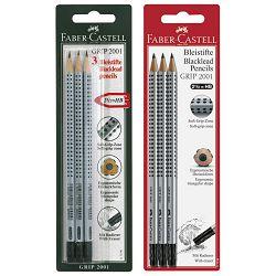 Olovka grafitna HB s gumicom Grip 2001 pk3 Faber Castell 117298 blister