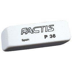 Gumica plastična P36 soft Factis bijela-KOMAD