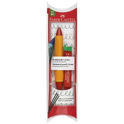 Olovka tehnička 1,4mm grip Twist Faber Castell 131443 narančasta/crvena blister!!