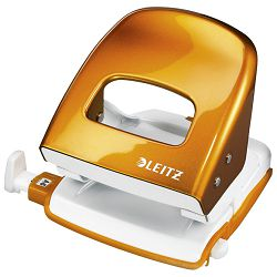 Bušač 2 rupe do  30 listova Wow Leitz 50082044 metalik narančasti blister