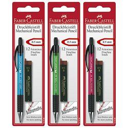 Olovka tehnička 0,5mm Grip Matic 1375+mine Faber Castell sortirano blister