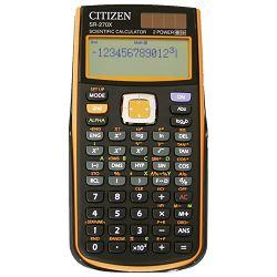 Kalkulator tehnički 10+2mjesta 251 funkcija Citizen SR-270XOR crni/narančasti blister!!