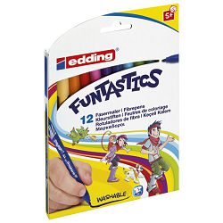 Flomaster školski  12boja Funtastics Edding 15 blister!!