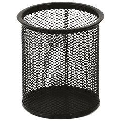 Čaša za olovke metalna žica okrugla fi-9xH-9,7cm LD01-188 Fornax crna