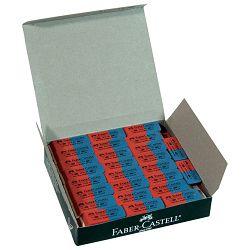 Gumica kaučuk tinta/grafitna 7070-80 Faber Castell 187080 crvena-plava-KOMAD