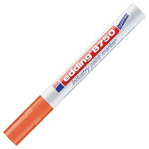 Marker industrijski lakirajući 2-4mm Edding 8750 narančasti