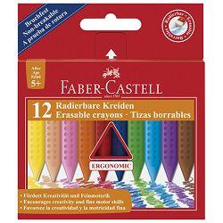 Boje voštane  12boja Grip 2001 Faber Castell 122520 blister