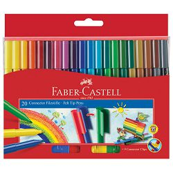 Flomaster školski  20boja Connector Faber Castell 155520