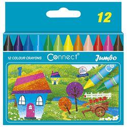 Boje voštane 12boja kartonska kutija Jumbo Connect