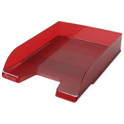 Ladica za spise Fornax prozirno crvena