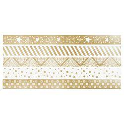 Traka Deco ljepljiva 12mmx3m novogodišnja s uzorkom pk5 Heyda 20-35845 80 zlatna blister