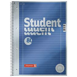 Blok kolegij A4 crte  80L perforacija+4rupe Premium Brunnen 10-67127 metalik plavi