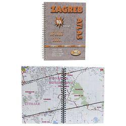 Karta grada Zagreba-(kniga-spirala)Aplauz Bregant