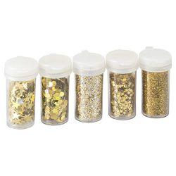 Ukras za dekoriranje glitter mix Knorr Prandell 21-81054 96 zlatni