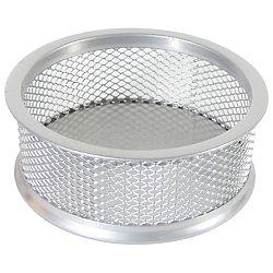 Čaša za spajalice metalna žica fi-9,5xh-3,2cm LD01-199 Fornax srebrna