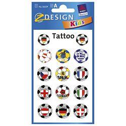 Naljepnice dječje teens tattoo lopta Zweckform 56559 blister!!