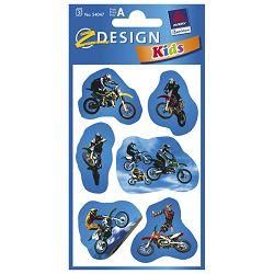 Naljepnice dječje papir motori pk3 Zweckform 54047 blister!!