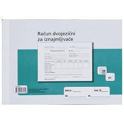 Obrazac L-RDVJ A5/NCR- račun dvojezični za iznajmljivače Fokus