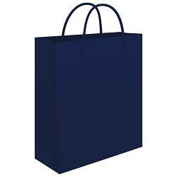 Vrećice ukrasne 34x39x10cm sjajna plastifikacija Fornax plave