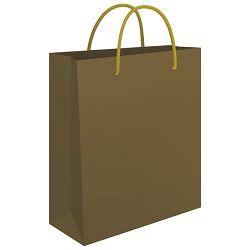 Vrećice ukrasne 34x39x10cm sjajna plastifikacija Fornax zlatne