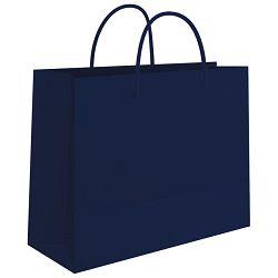 Vrećice ukrasne 50x37x12cm sjajne plastične Fornax plave