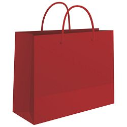 Vrećice ukrasne 50x37x12cm sjajne plastične Fornax crvene