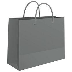 Vrećice ukrasne 50x37x12cm sjajne plastične Fornax srebrne