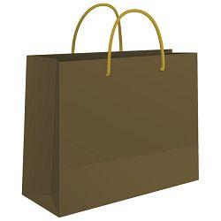 Vrećice ukrasne 50x37x12cm sjajne plastične Fornax zlatne