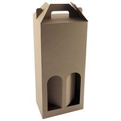 Kutija za boce 2/1 natron 15,6x36x8,7 pk10 smeđa