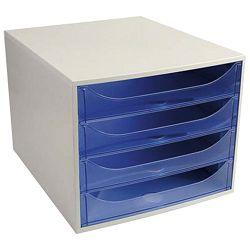 Kutija s  4 ladice Ecobox Exacompta 228610D sivo-plava