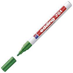 Marker permanentni lakirajući 1-2mm Edding 751 zeleni