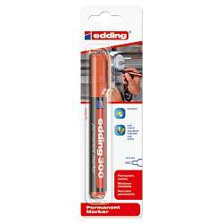Marker permanentni 1,5-3mm okrugli vrh Edding 300/1 crveni blister