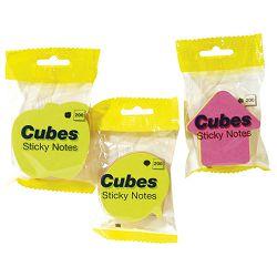 Blok samoljepljiv oblik Jabuka 200L Global Notes 5830-39 neon sortirano blister