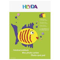 Kolaž - blok A4 10 listova 300g papir u boji Heyda 20-47126 sortirano