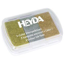 Jastučić za pečat 3 boje (brončana, srebrna, zlatna) Heyda 20-48884 66