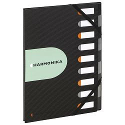 Mapa za odlaganje spisa  9 pregrada s gumicom pp Exactive Harmonika Exacompta 55334E