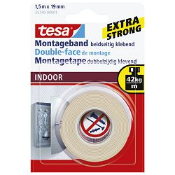 Traka ljepljiva obostrana 19mm/1,5m spužvasta Indoor Tesa 55740-3 blister