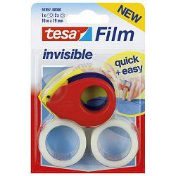 Traka ljepljiva nevidljiva 19mm/10m +Easy stalak Tesa 57857-0 blister!!